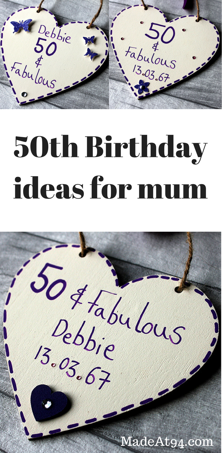 50th Birthday Ideas For Mum Personalised And Handmade Gift With Names