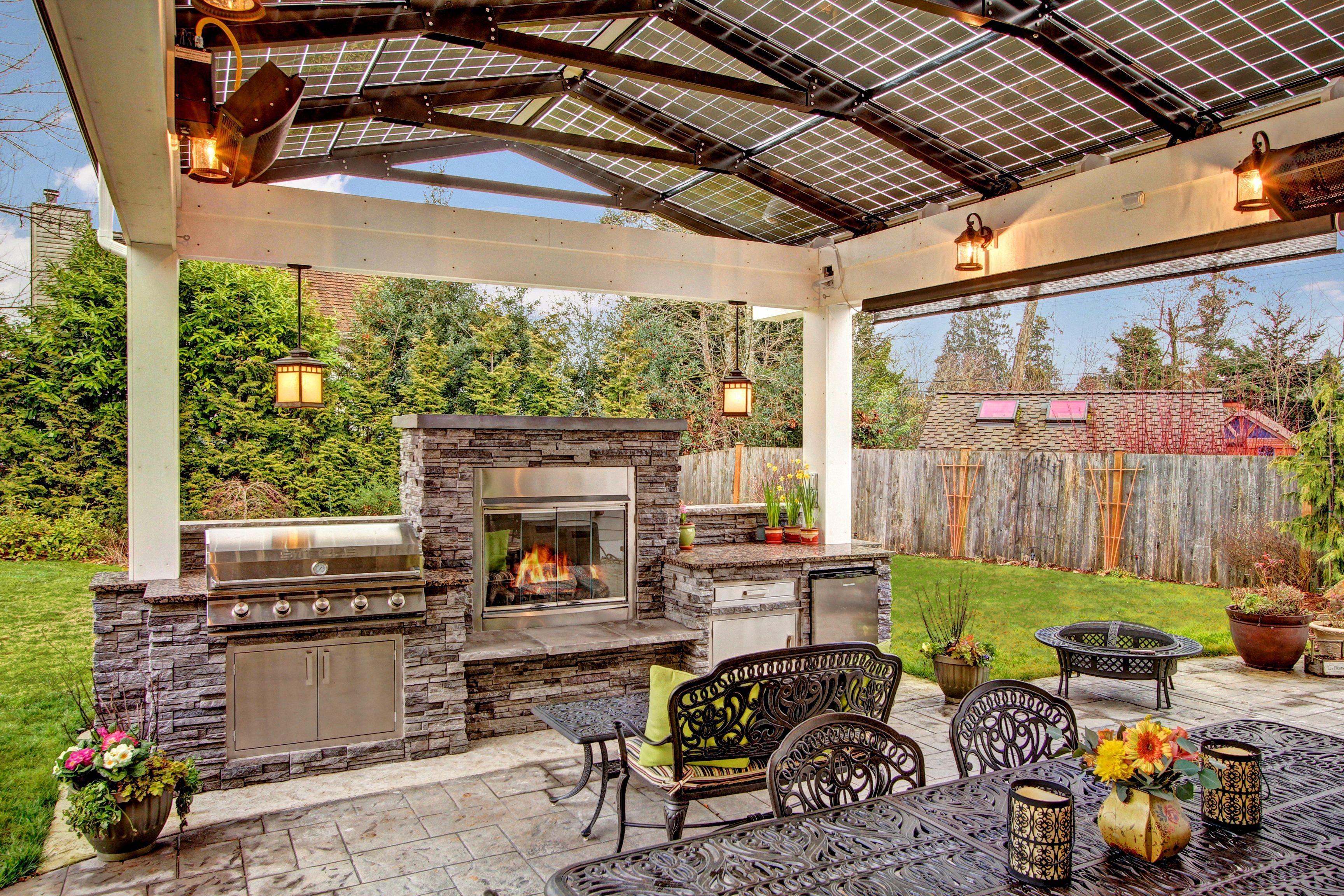 Steele Grills In An Amazing Outdoor Kitchen With A Solar Powered Arbor Outdoor Outdoor Kitchen Outdoor Kitchen Plans