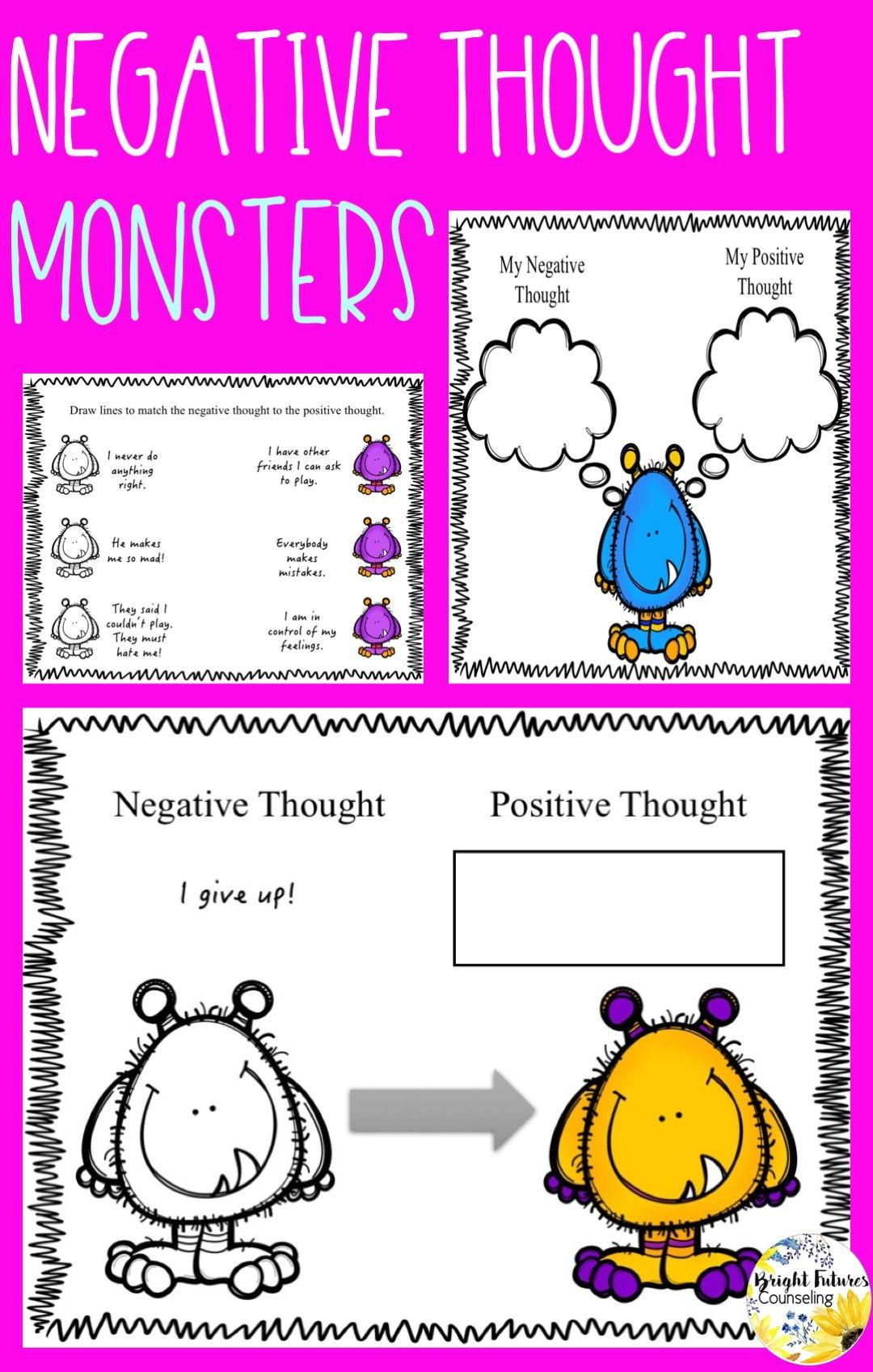 Negative Thought Monsters