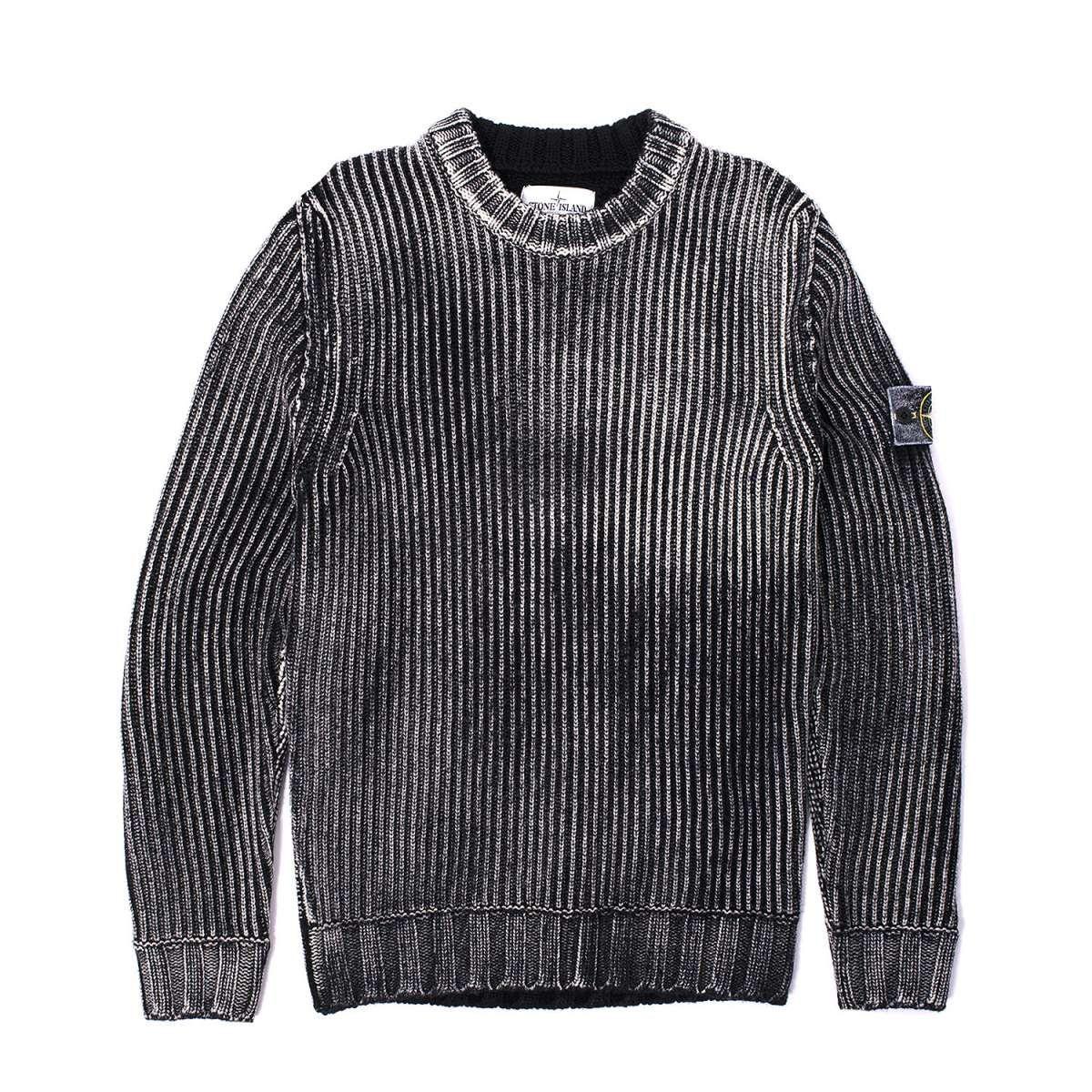 Stone Island Hand Corrosion Crewneck Knit Sweater