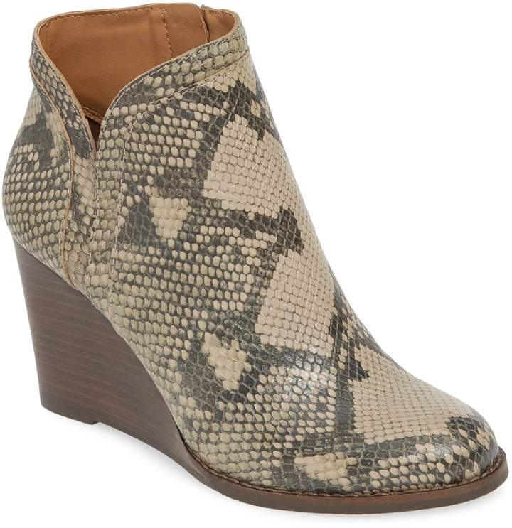 6b137a35172 Women's Lucky Brand Yimina Wedge Bootie, Size 5 M - Grey in 2019 ...