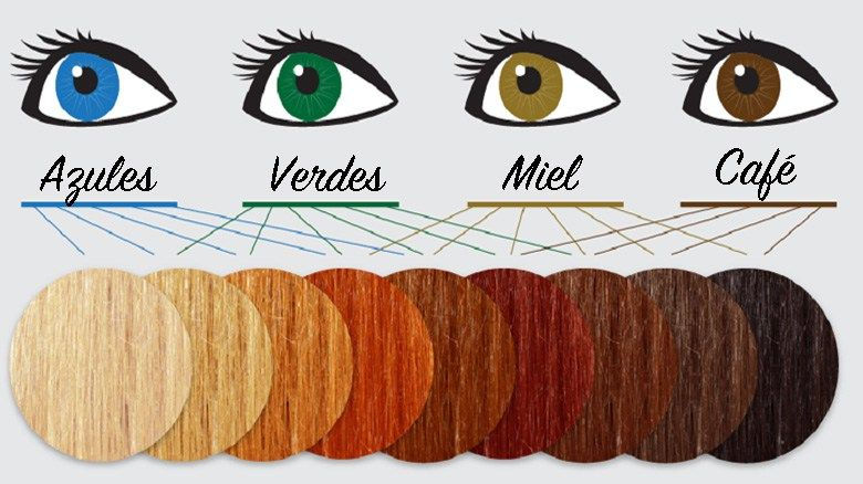 Qué tinte de pelo va mejor con tu tono de piel? | Tablas de ...