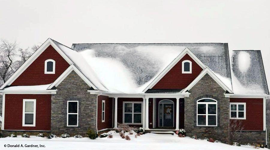 ordinary hardesty house plan #3: Front Exterior The Hardesty House Plan #1287