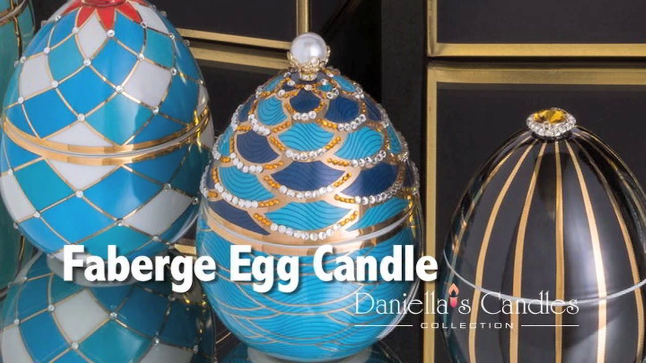 Various Colours Small Faberge Egg Easter Candle Silver Gold Black Lime Blue