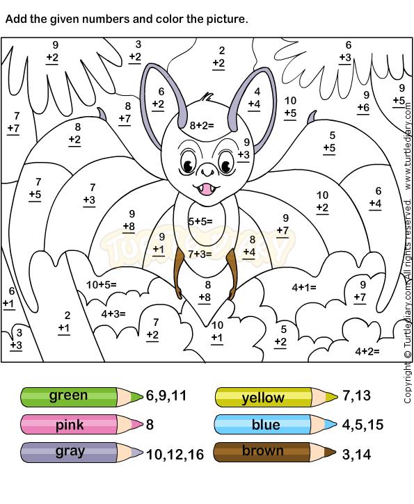 Color by addition | Escola - Ensino Especial | Pinterest | Schule ...