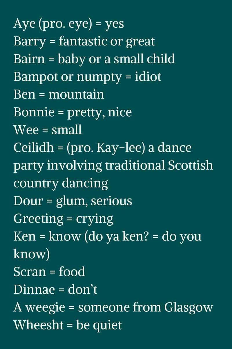 Pin By Nancy Baker On Language Pinterest Scotland Scottish