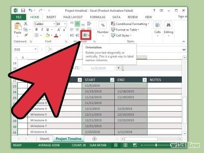 Create a Timeline in Excel Timeline, Create and Microsoft - Create A Spreadsheet In Excel
