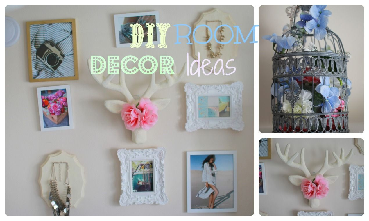 DIY photo collage, DIY Deer head, DIY jewelry display, and DIY birdcage check out my YouTube channel where I show you guys how to make this!