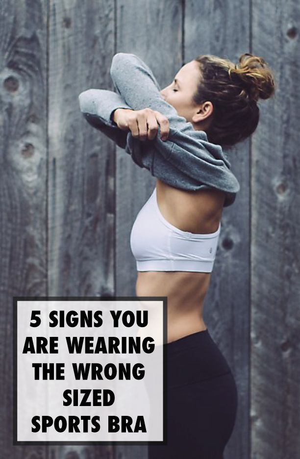 9af8852dd1 5 Signs You Are Wearing the Wrong Sized Sport Bra Workout Attire