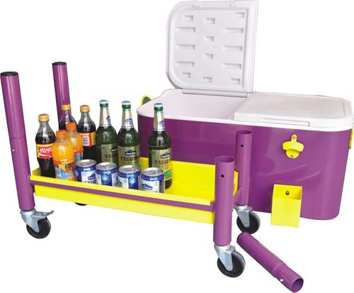 Steel Patio Deck Outdoor Bar Kitchen Cooler With Cart 80 Quart Capacity  From Jinhua Dongrun