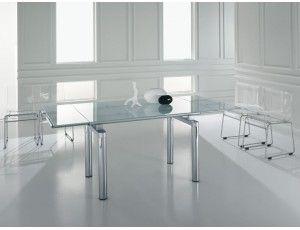 Holiday tavolo allungabile in vetro - Tavolo rettangolare ...