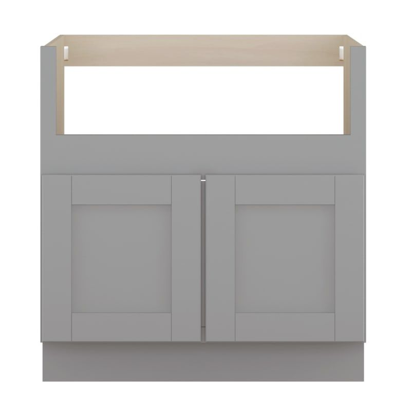 Sunny Wood Gsb33fs A Grayson 33 Wide Double Door Farm Sink Base Cabinet With So Dove Gray Kitchen Cabinets Base Cabinets 33 Inch In 2020 Base Cabinets Farm Sink Grey Kitchen Cabinets