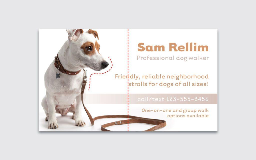 dog walker experience resume