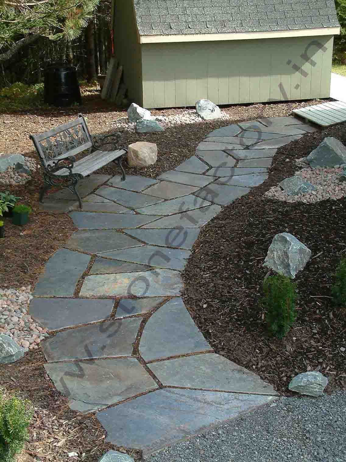 Exterior What Is Flagstone Diy Rock Walkway Flagstone And River Rock Walkway  Stone Walkway Texture Uneven Flagstone Patio Laying Flagstone On Gravel ...