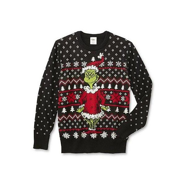 Grinch Young Mens Ugly Christmas Sweater Sears 25 Liked On