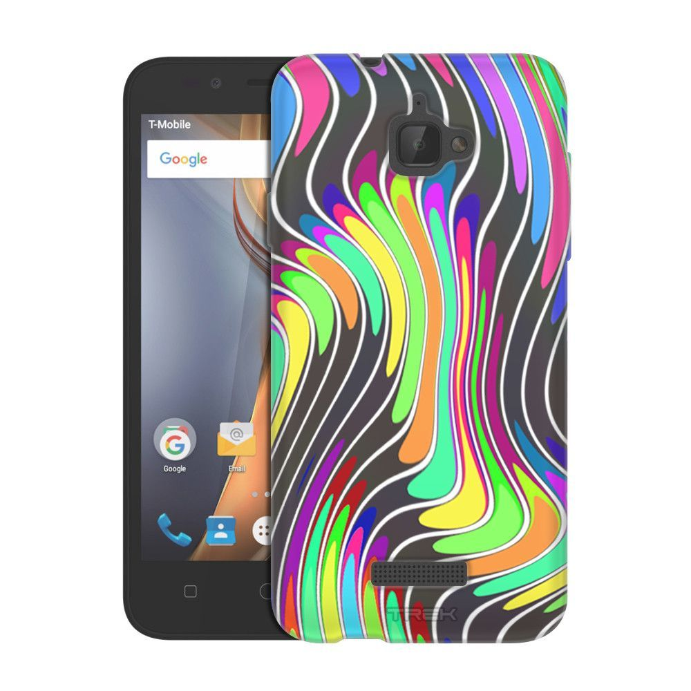 Samsung Galaxy On5 Wavy Neon Abstract Accents on White Slim Case