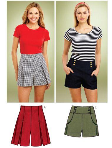 Kwik-Sew #3854 Misses\' - Shorts | Nähen, Kleidung damen und Hausarbeit