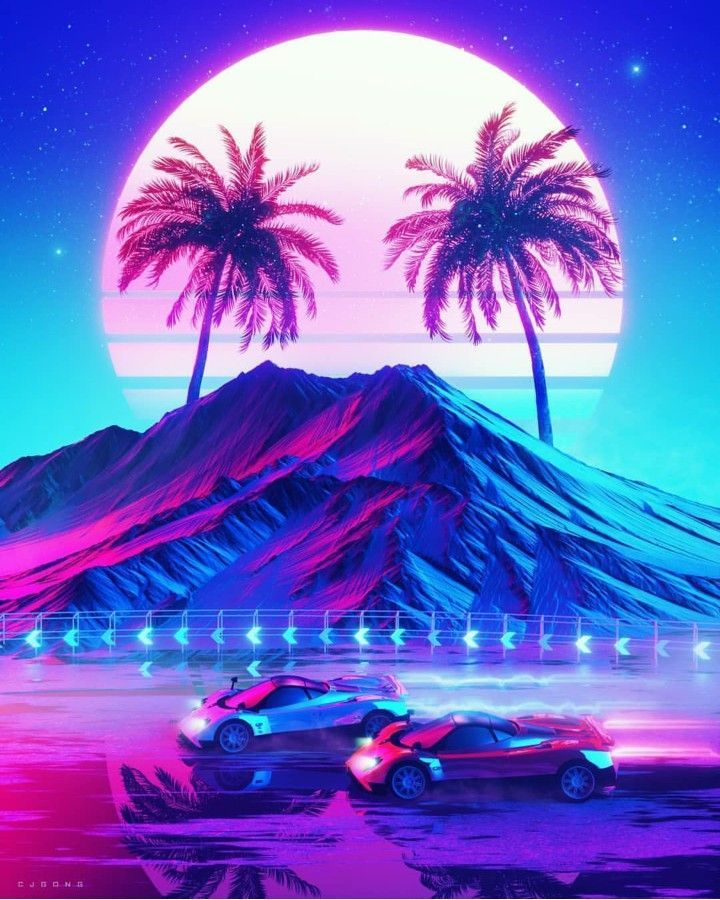 All Synthwave retro and retrowave style of arts #synthwave ...