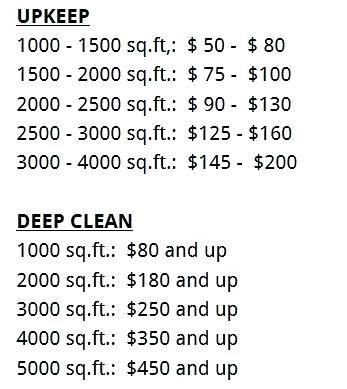 Image Result For Cleaning Services Price List Cleaning Cleaning