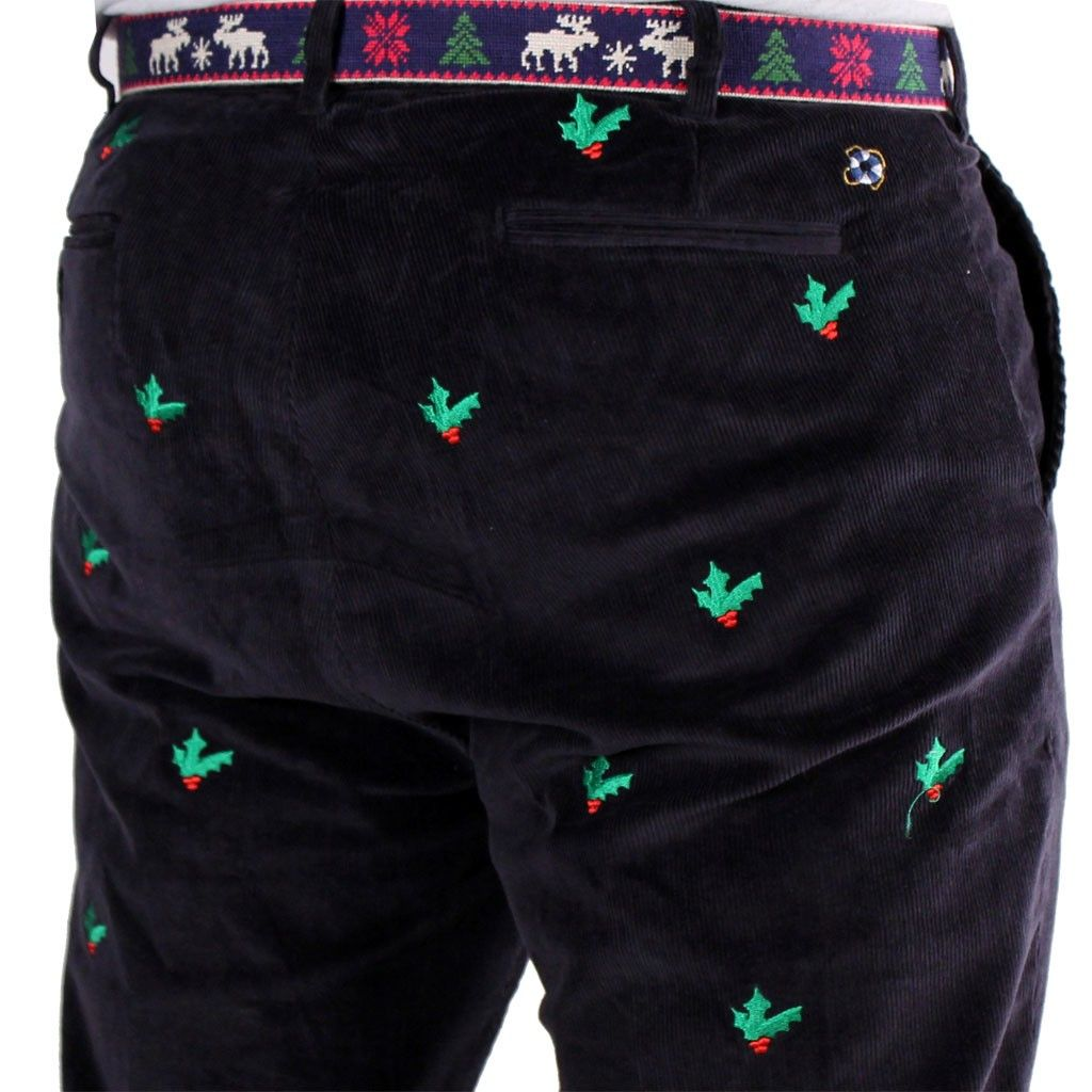 Beachcomber Corduroy Pants in Nantucket Navy with Embroidered ...