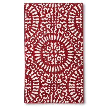 Red Medallion Kitchen Rug Threshold Accessories In 2019
