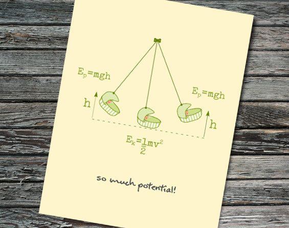 Baby shower potential energy card physics math equations kinetic baby shower potential energy card physics math by nerdywordsgifts stopboris Choice Image