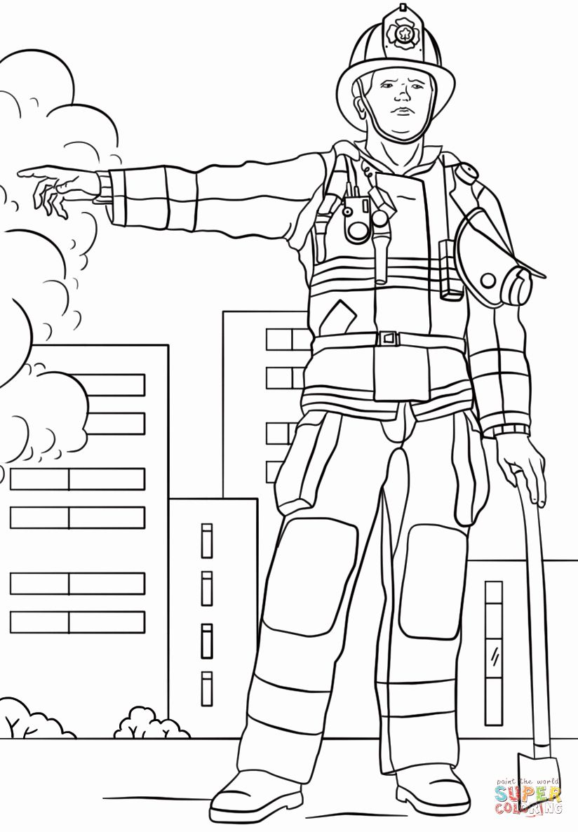 Fire Fighter Coloring Page Luxury Firefighter Coloring Page Coloring Pages Coloring Pages Inspirational Tractor Coloring Pages [ 1186 x 824 Pixel ]