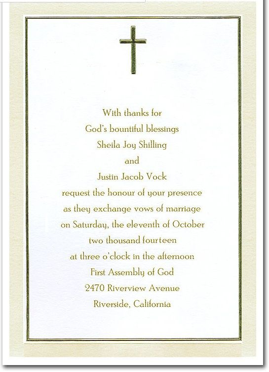 christian wedding invitations for christian couples wedding