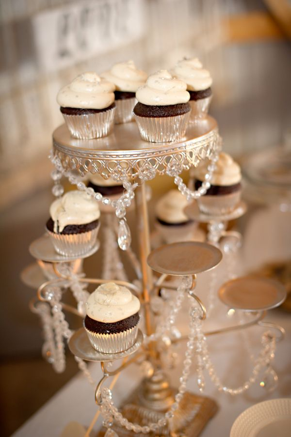cupcakes on candleabra