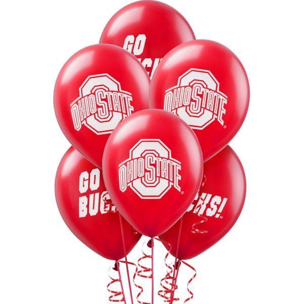Ohio State Buckeyes Balloons 10ct
