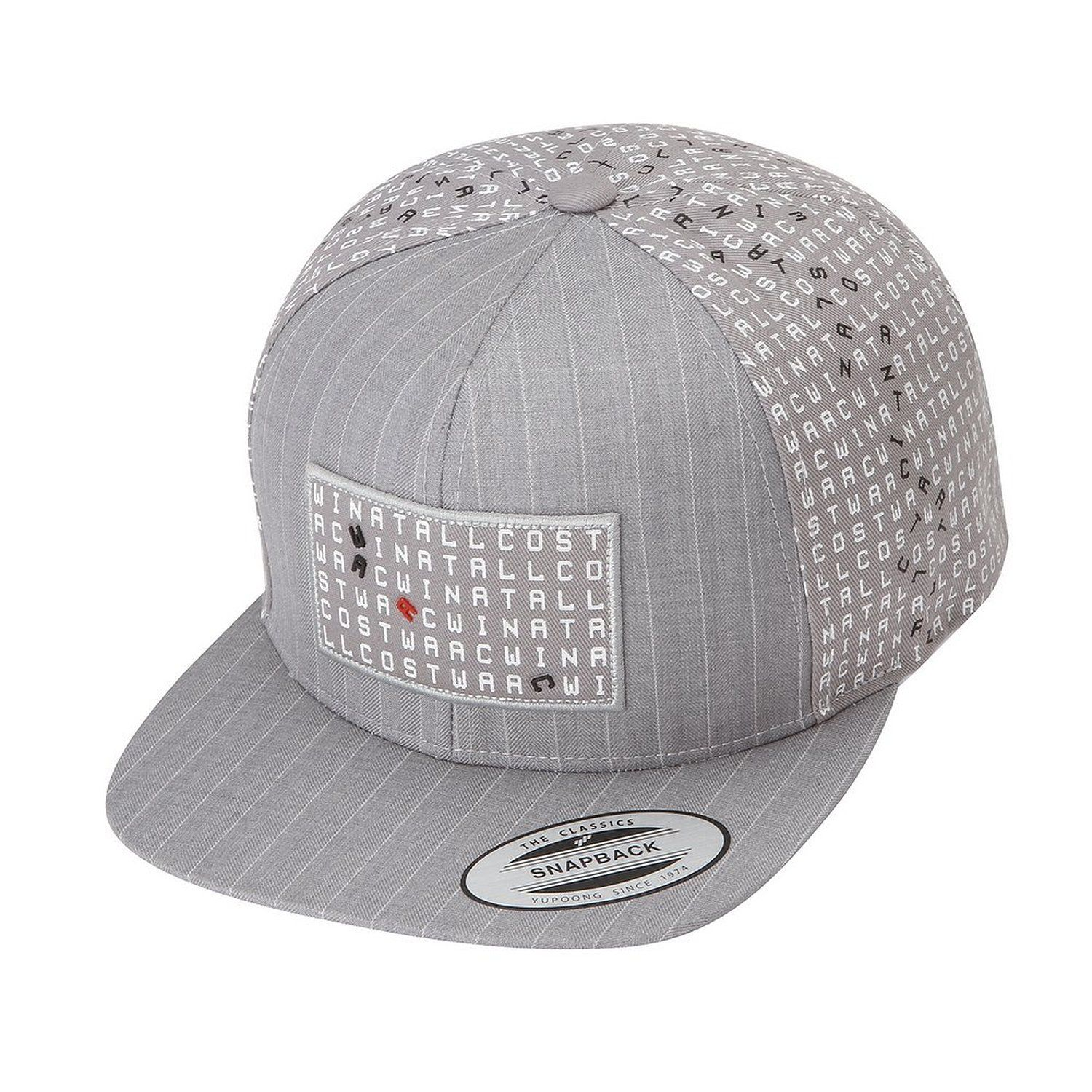 3d6097a75 ELORD Crossword Pattern Snapback (Grey) at Amazon Men's Clothing store: