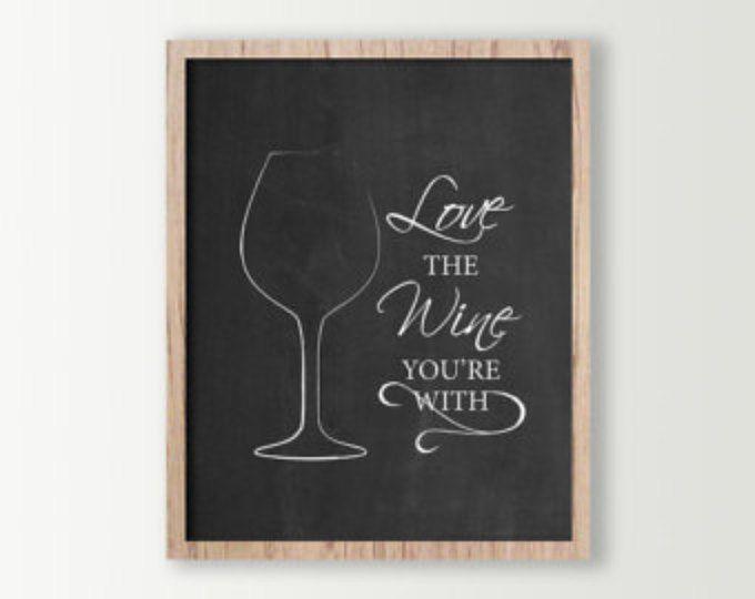 Wine Signs Decor Impressive Wine Wall Decor  Wine Sign  Kitchen Signs  Wine Prints  Wine Design Inspiration