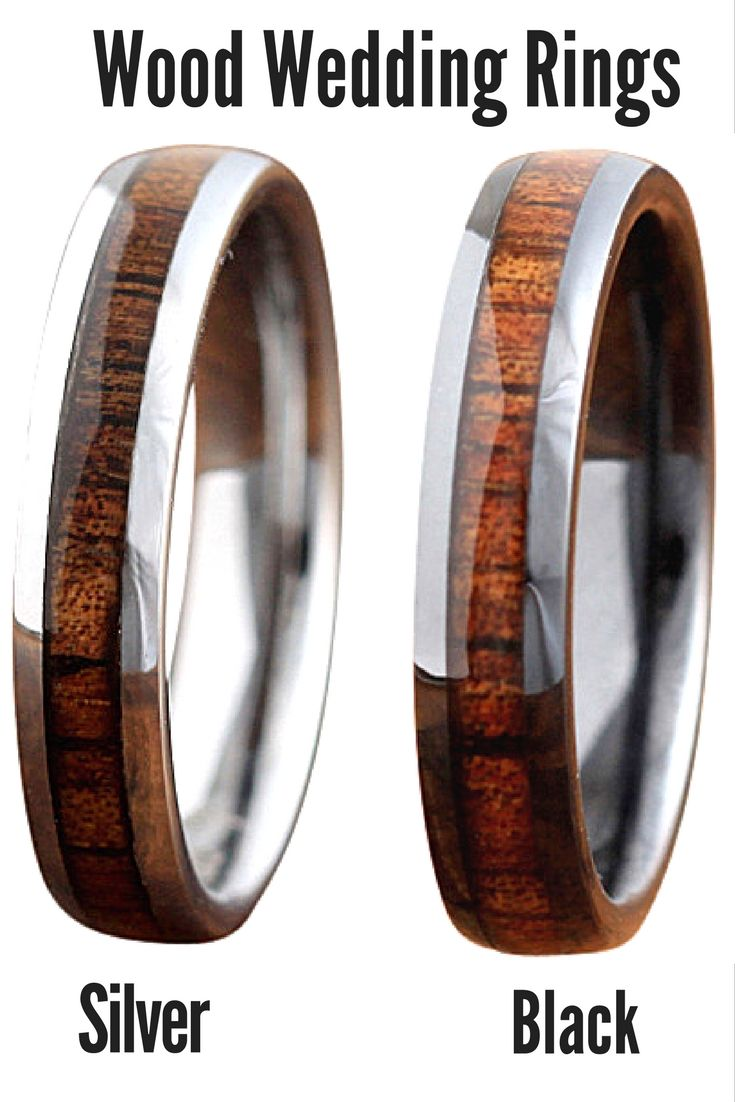 4mm wood wedding bands both crafted out of 100 real koa wood and made with - Koa Wood Wedding Rings