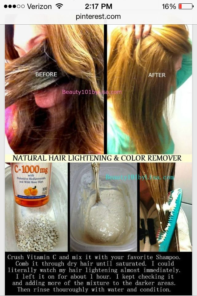 How To Naturally Lighten Your Hair Hairbeauty Pinterest