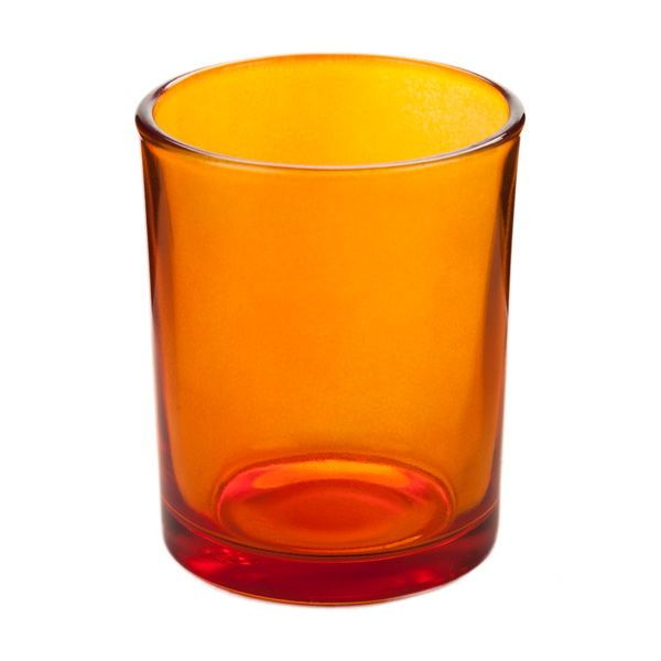 Orange Gl Votive Candle Holder At Deep S Find Thousands Of Candles And Battery Featuring Holders Tealights Votives