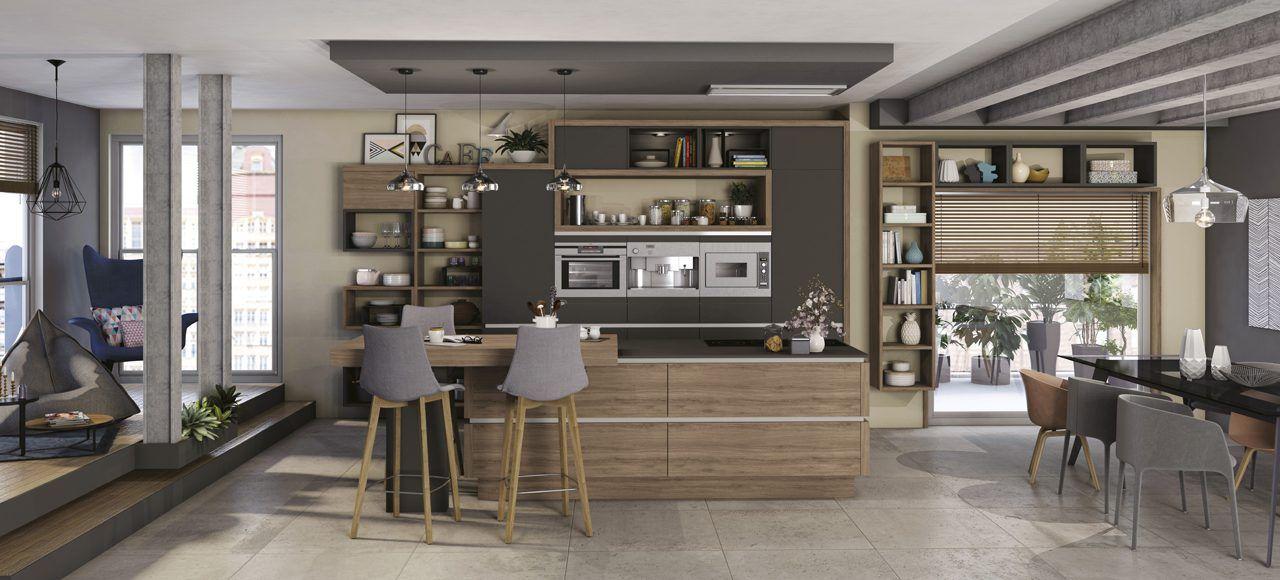 Une cuisine qui invite au cocooning Son coin repas et son ouverture