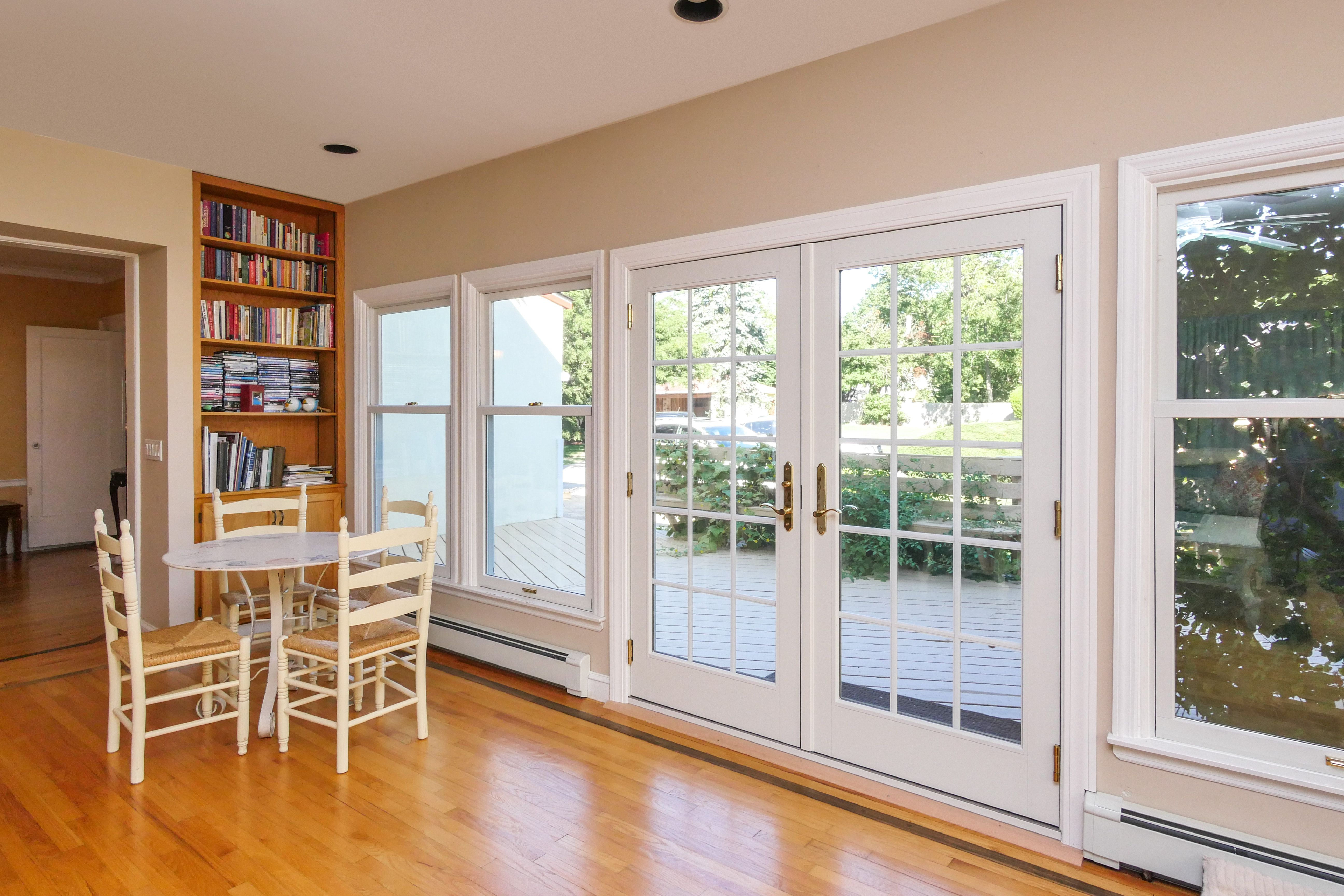 Beautiful New Windows And French Doors We Installed In A Great Suffolk County Home Beautiful French Doors Remodeling Renovation Home Remodeling