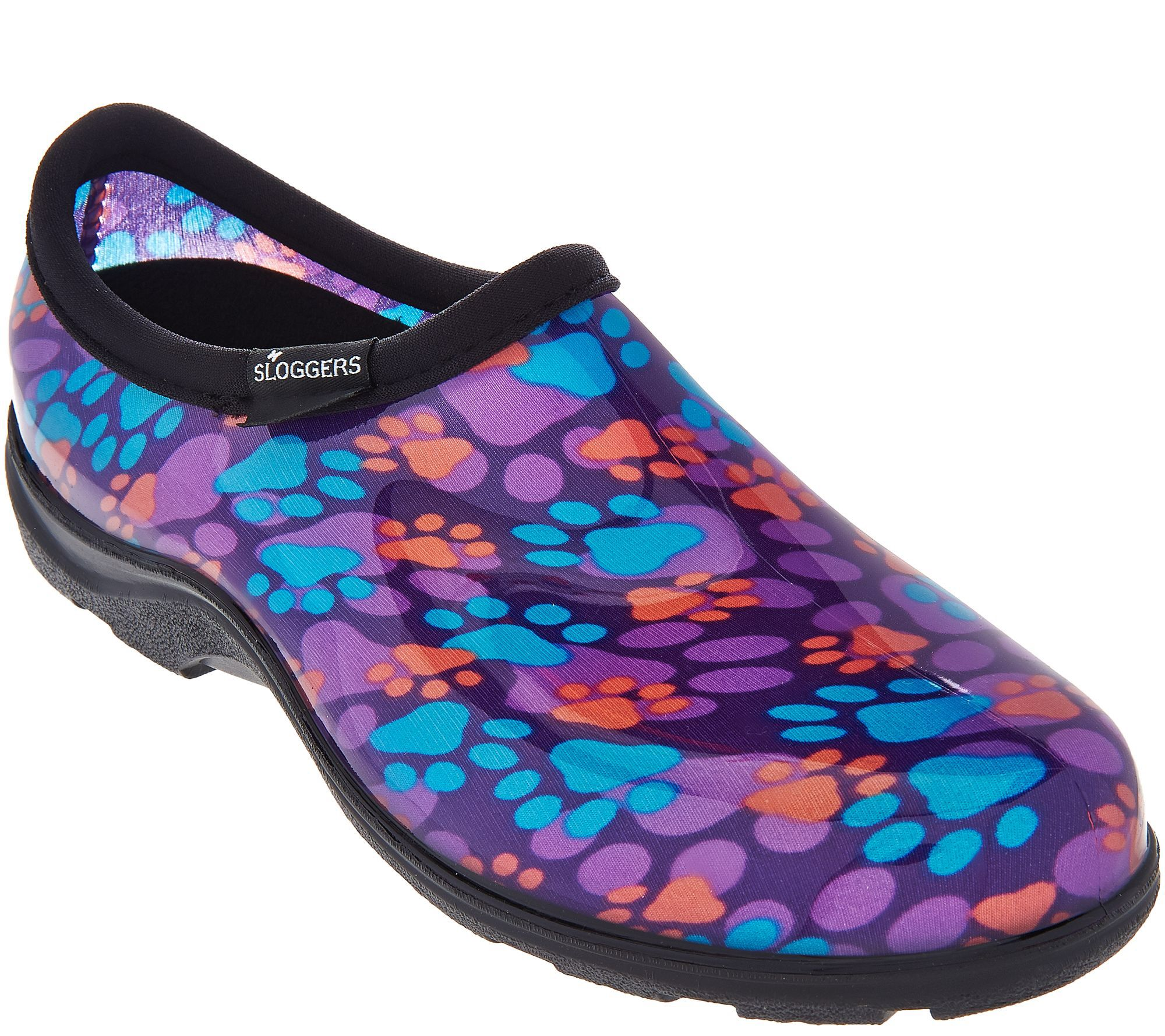Sloggers Multi-Color Paw Print Garden Shoes w/ Comfort Insoles