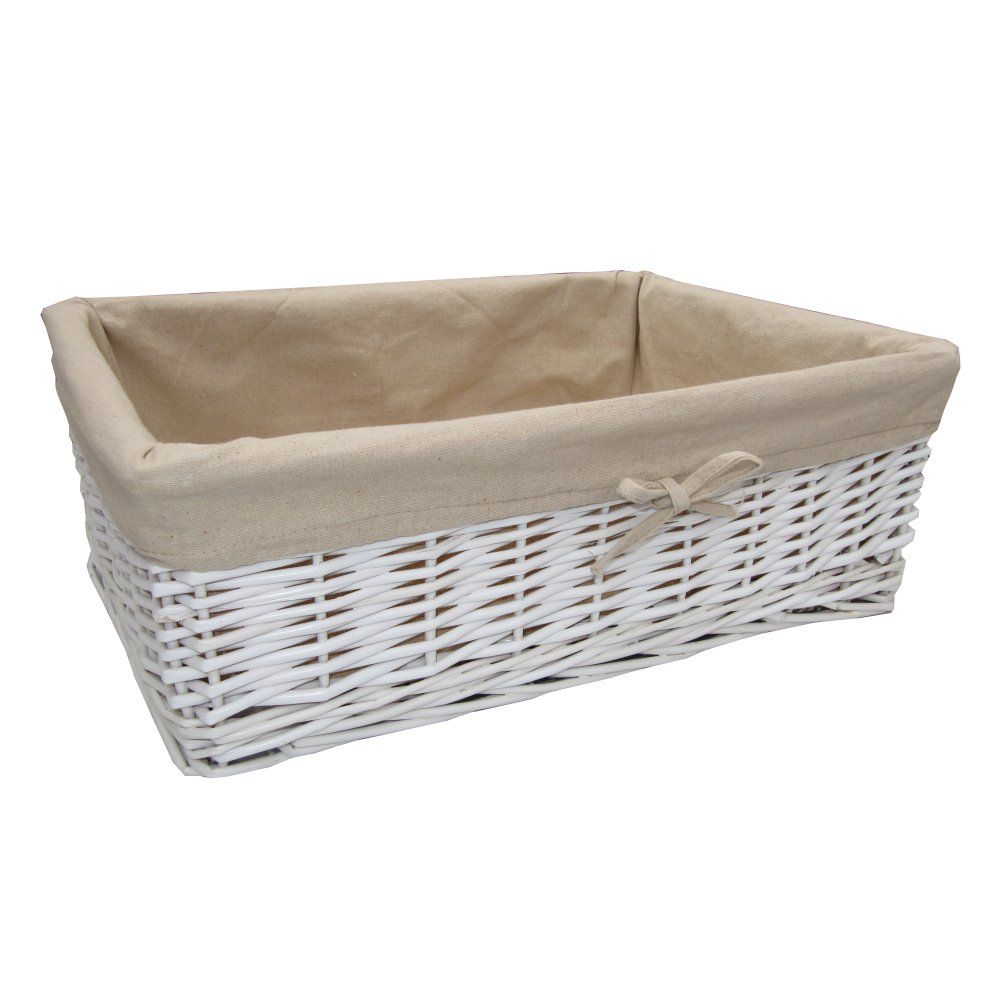 Home underbed storage baskets wicker underbed storage basket - Buy White Wicker Storage Basket Online From The Basket Company