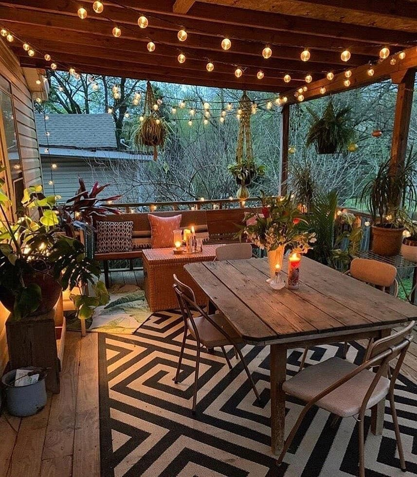 Патио загородного дома фото