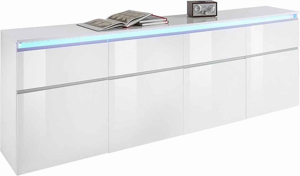 Tecnos Sideboard Magic Breite 240 Cm 4 Turen Online Kaufen Otto Sideboard Holzwerkstoff Schubkasten