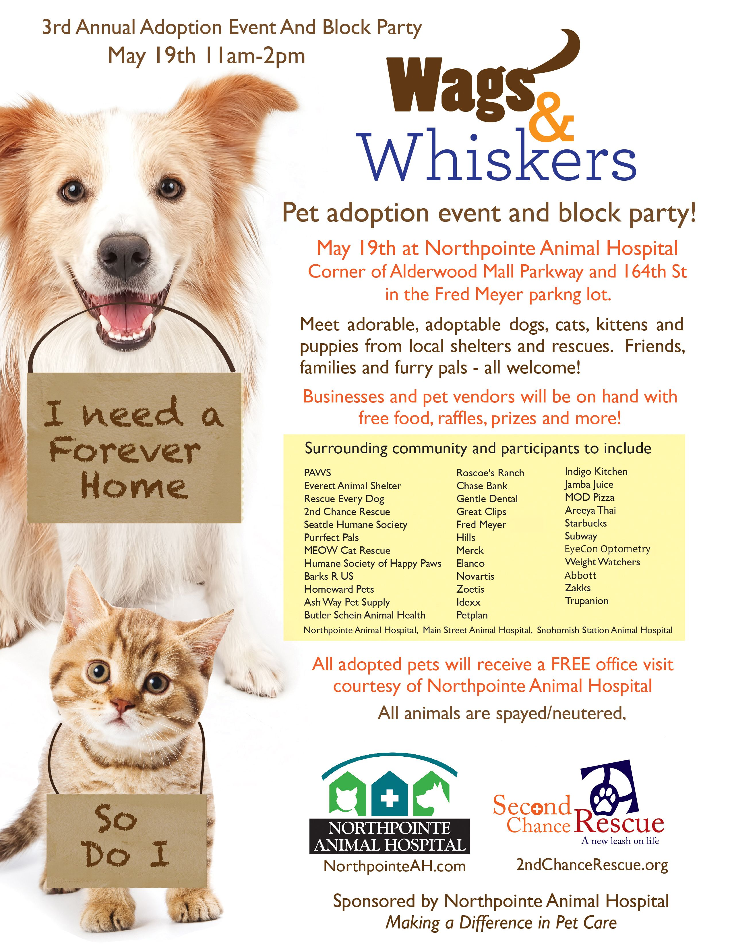 Join Petplan pet insurance at the 3rd Annual Wags and