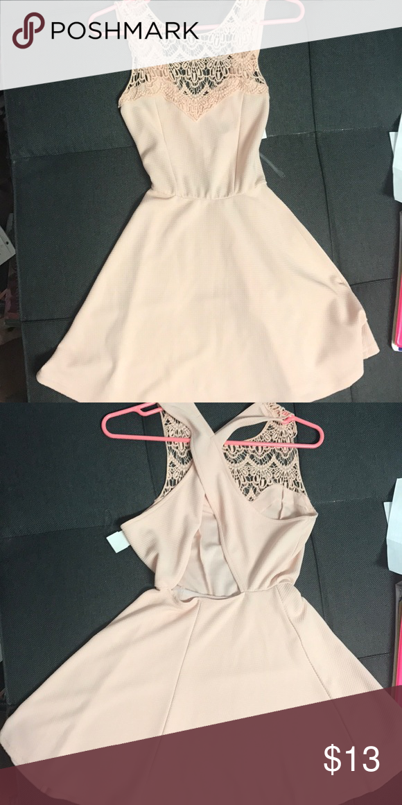 2324aff115d Charlotte Russe pink dress xs This a perfect spring time dress!! It has a  nice open back and is very figure flattering. I got it for recruitment but  ended ...