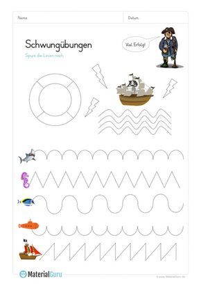 neu ein kostenloses arbeitsblatt f r die vorschule auf dem die kinder schwung bungen zum thema. Black Bedroom Furniture Sets. Home Design Ideas