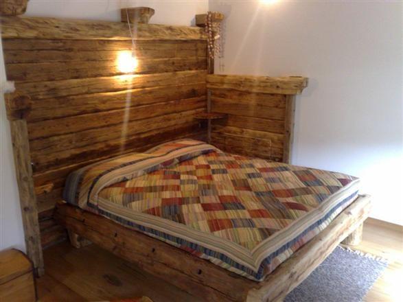 Letto antico in legno | Letti per la casa di montagna | Pinterest ...