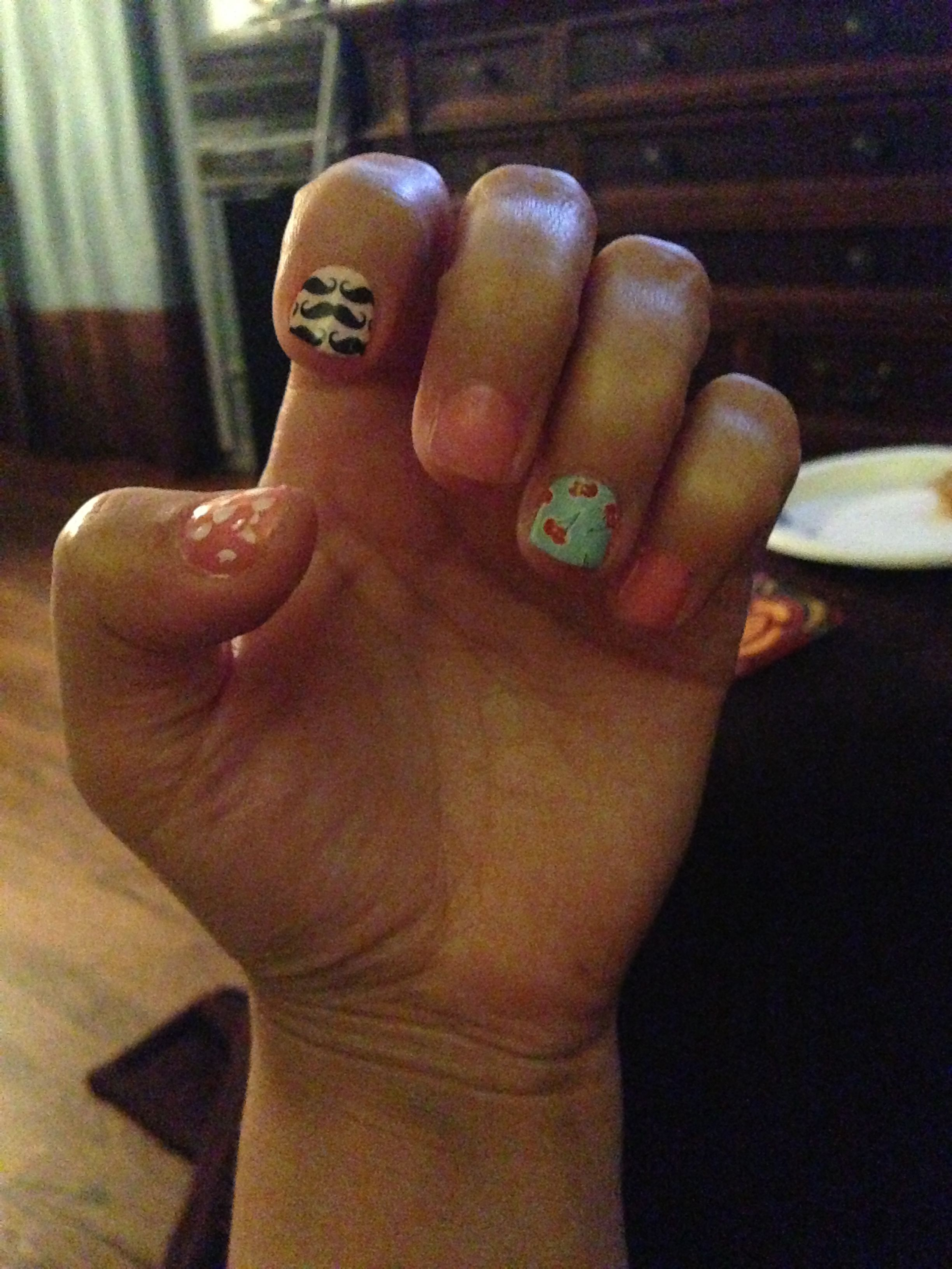 Growing my nails out with a no more nail biting polish and this new ...