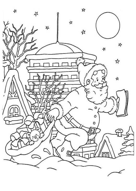 Desenhos de Papai Noel para colorir | Desenhos Natalinos para ...