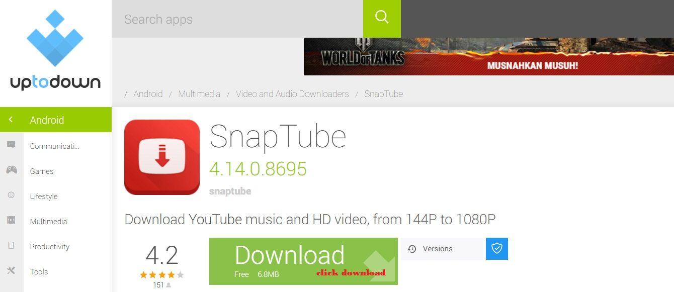 Aplikasi android snap tube boleh menyelesaikan masalah kamu