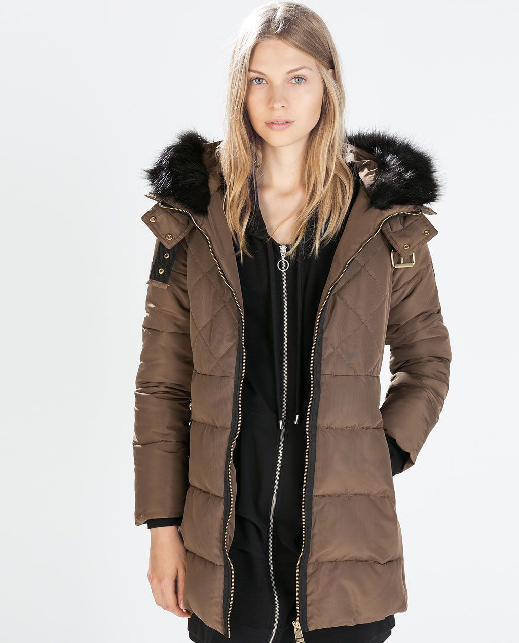 designer fashion biggest discount cheapest price ZARA - FEMME - ANORAK TROIS-QUARTS FANTAISIE | vestes ...