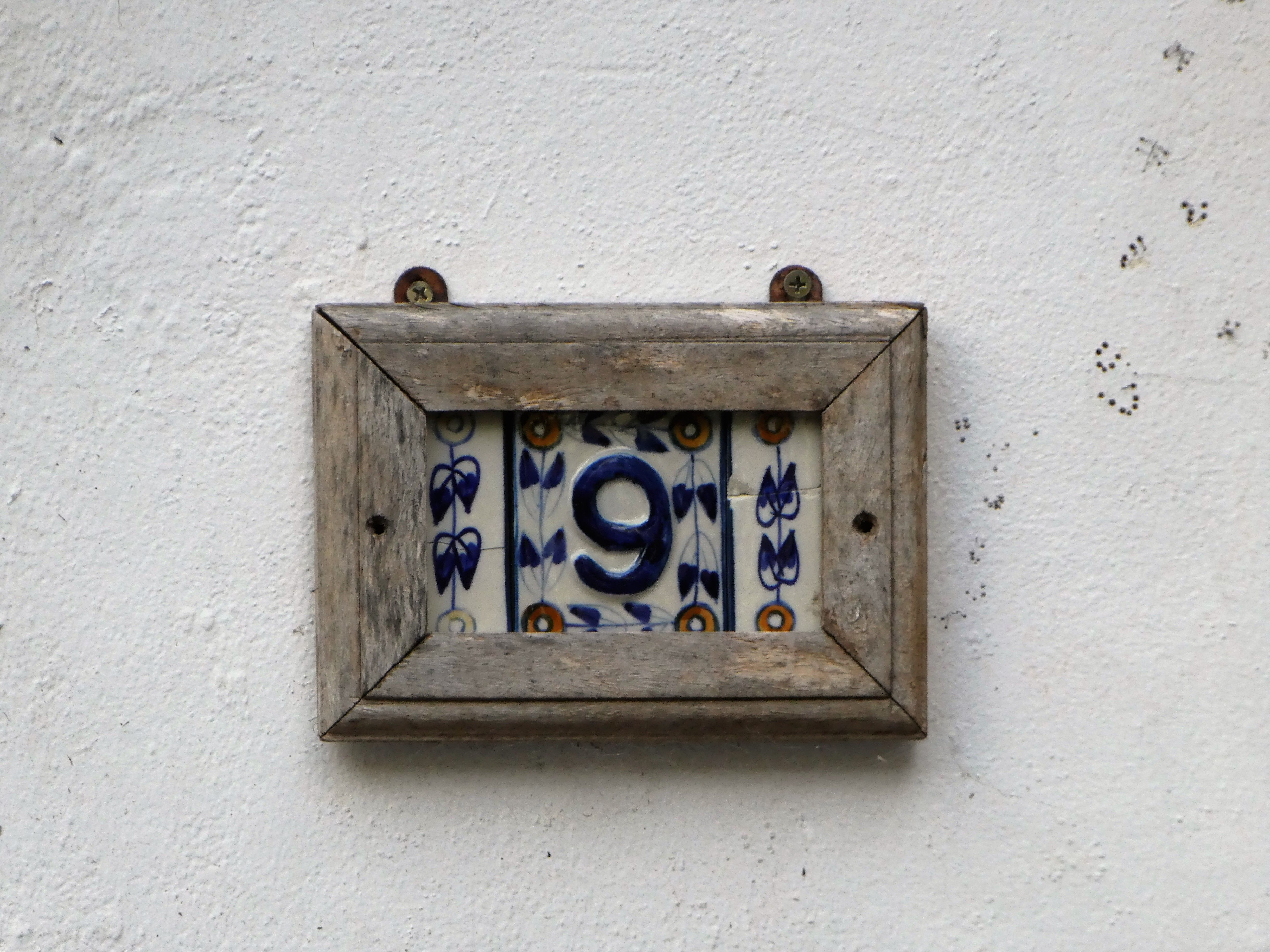 These Classic French Mediterranean Number Tiles Are Easy To Find But Enhanced With This Simple Timber Frame Timber Frame Number Tiles House Numbers